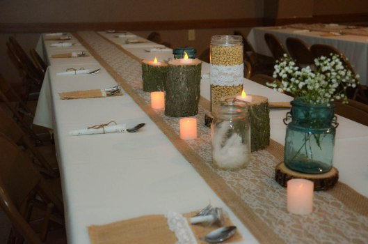 wood centerpieces