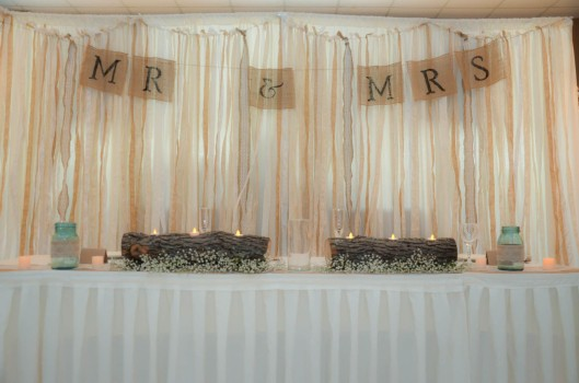 mr and mrs burlap banner