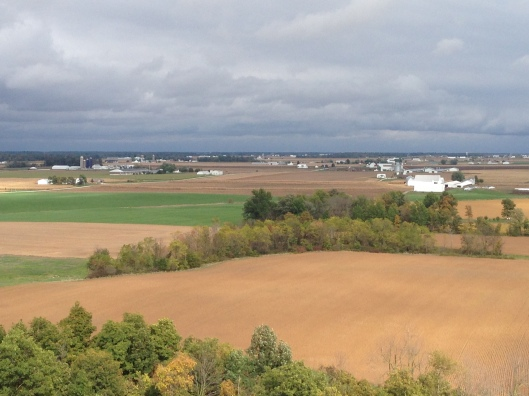 panoramic view of farmland