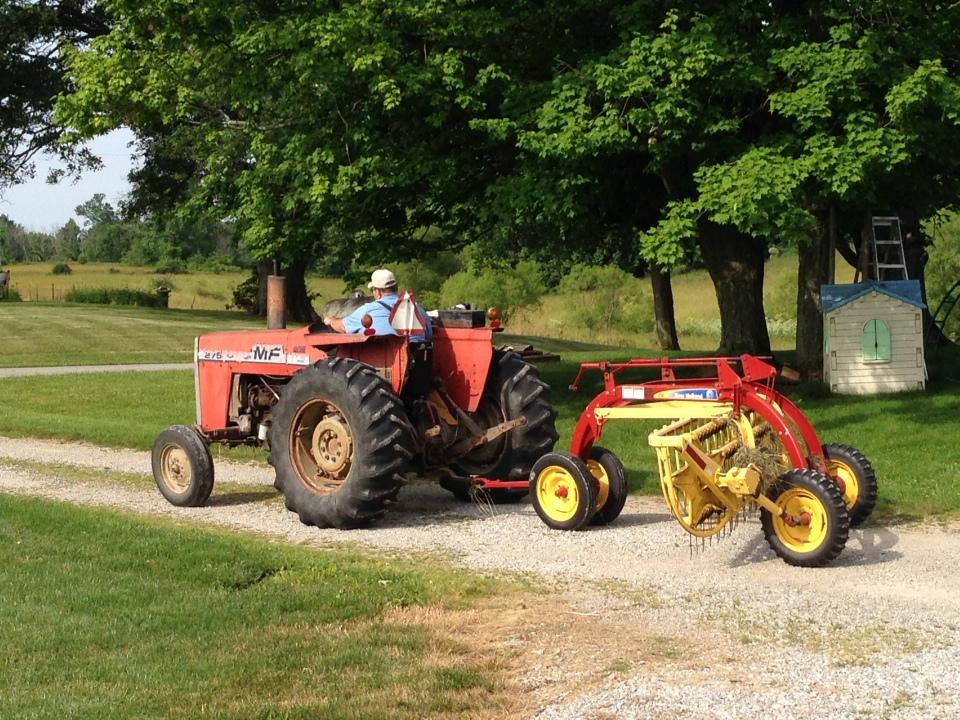 massey ferguson and hay rake